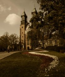 Cathedral in Poznan by Cahharin