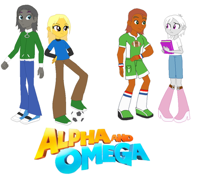 Humphrey, Kate, Garth, and Lilly in EG style by NativeBrony-91