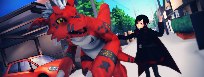 MMD RWBYxDigimon: .:Guess both of us are Hungry:. by Digi-TheSaiyan
