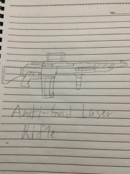 Anti-God laser rifle by xjames2001