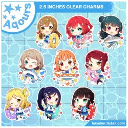 NEW Aqours Charms! by Kaxukin