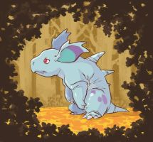 Sad or tired nidorina?