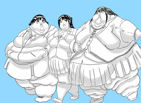 Fat girls by Kahuurinzan