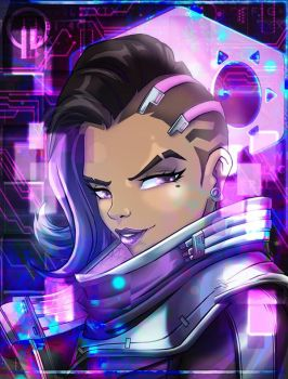 Overwatch Sombra by Darkness1999th