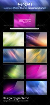 8 Abstract Motion Blurred Backgrounds by graphiccon