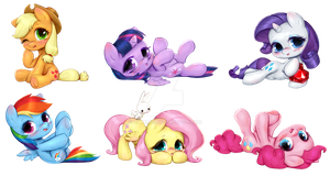 My Little Pony Mane 6 Chibi by CatMag