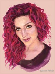 Girl with Curly Red Hair by Thubakabra