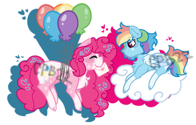 Pinkie Pie x Rainbow Dash by Cupcakeblue22