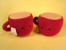 red tea cups by sewingstars