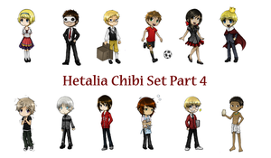 Hetalia Chibi Set Part 4 by SiriEx