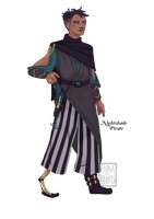 [closed] Adopt - Nightshade Pirate by fionadoesadopts