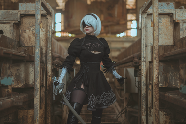 2B cosplay - Nier Automata by EnjiNight
