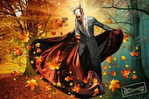 Thranduil autumn by OlgaVPirogova