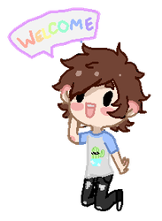 animated welcome by gh0stbun