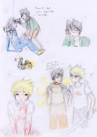 HS fangame - Lost Chums sketches 02 by ChibiEdo