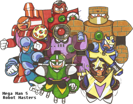 Robot Masters EXTERMINATE!!!!! by Baragon1314
