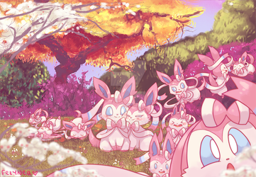 Sylveon Garden by Felynea
