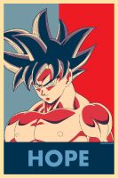 Goku Limit Breaker HOPE Poster by Hkartworks99