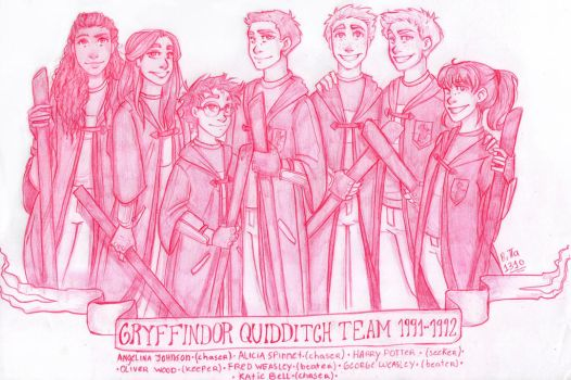 Gryffindor Quidditch Team by RiTTa1310