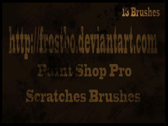 Scratches Paint Shop Pro Brush by FrostBo