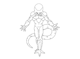 Frieza (Freeza) Lineart by DragonBallAffinity