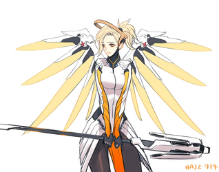 OVERWATCH MERCY by Haje714