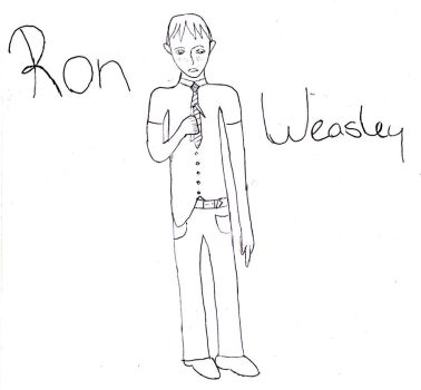 Ron Weasley - Not Coloured by Palomino-Princess
