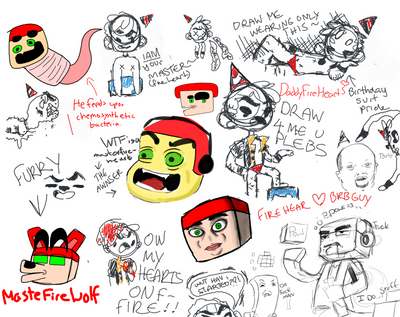 Art Lounge Drawpile #5 (BONUS) by Masterfireheart
