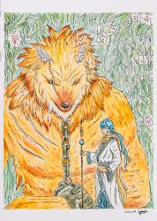 The Boy and the Beast (Original Watercolour) by VortexBlast