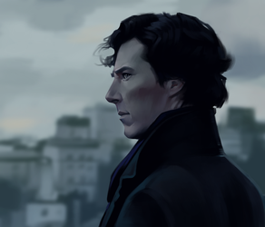 Sherlock - Fan Art by AndromedaDualitas