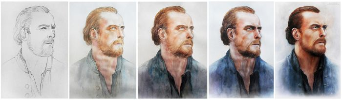 WIP captain Flint (Toby Stephens) by MeduZZa13