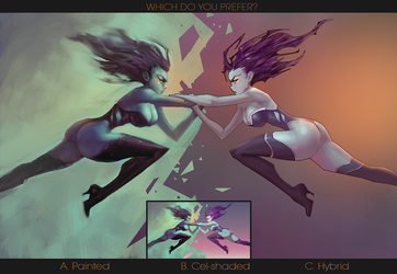 ROUND 2: Painted, Cel-Shaded or Hybrid? by Sycra