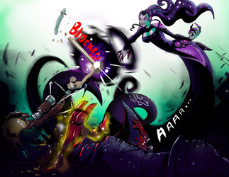 Xenobia vs Imani and the Margrave from gigantic by artiom1q2w
