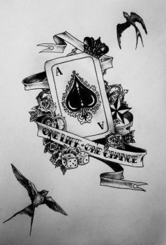 Old school ace tattoo project by FaceOfInsane