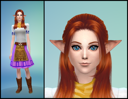 The Sims 4: LoZ Majora's Mask - Cremia by Tx-Slade-xT