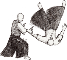 Aikido throw 2 by LachlanKadick