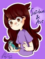 Jaiden and Ari by CottonCatRie