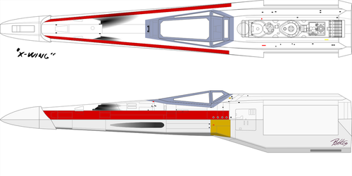 X-wing blueprint wip 2 by imclod