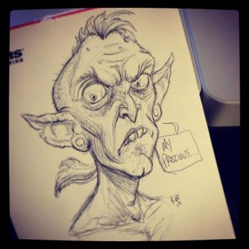 Sketches 1/2013: Punk Rock Gollum by RynoZebz
