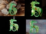 Green elfish pendant by kessan