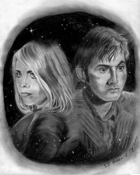 Rose and Dr Who by Catluckey