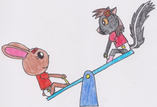 Amy N Molina on the Seesaw by DanielMania123