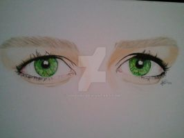 Green eyes. by Joker64