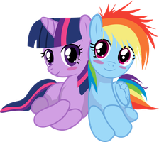 Filly Dash and Twilight by uxyd