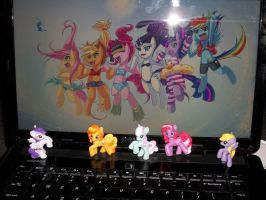 Three little ponies in need of a home. by Ask-Moluna