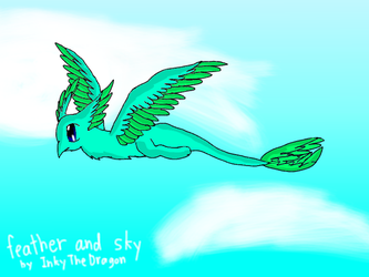 feather and sky by InkyTheDragon