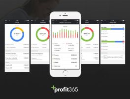 Dashboards of mob. app for Profit365 by jozef89