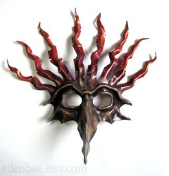 The Fool custom leather mask by shmeeden
