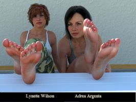 Adrea and Lynette Footshow by restif