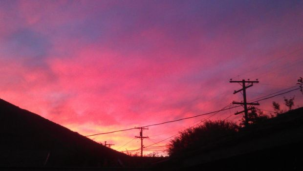 Sunset view from my backyard by Jess2Lucky